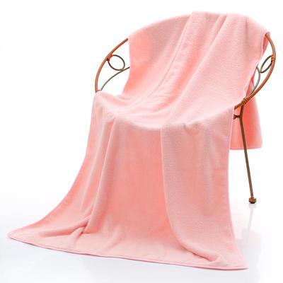 2018新款珊瑚绒毛巾浴巾套巾 粉色浴巾(70*140cm)