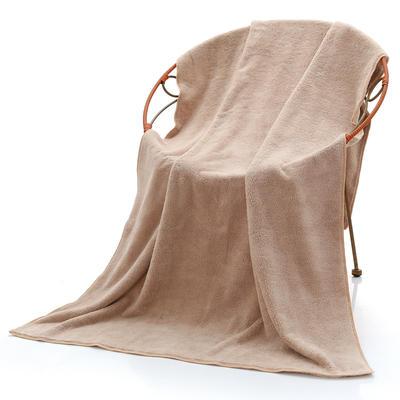 2018新款珊瑚绒毛巾浴巾套巾 咖色浴巾(70*140cm)