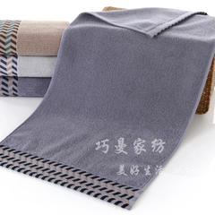 2018新款120克 32股 水纹毛巾 深灰色34*74cm