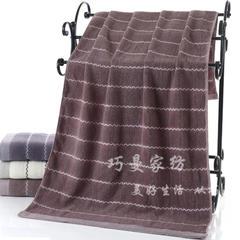 2018新款400克 水之声浴巾 咖啡色70*140cm