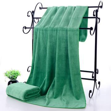 2018新款单板浴巾-70*140 11色-绿(385克)