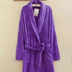 2018新款浴袍 均码 紫