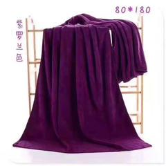 2018新款超柔大浴巾  80*180 紫罗兰色