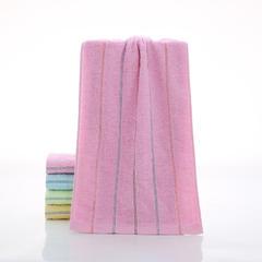 2018新款彩条毛巾 粉色30*70cm