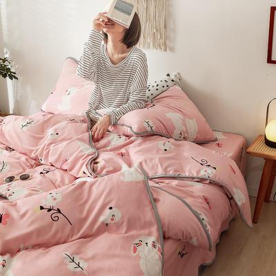 2019新款-风牛奶绒四件套 床单款四件套1.5m床-1.8m床 甜小兔