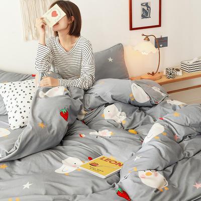 2019新款-风牛奶绒四件套 床单款四件套1.5m床-1.8m床 童趣