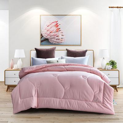 2019新款-純棉提花馨雅大豆冬被 150*210cm(春秋被)3.5斤 粉色