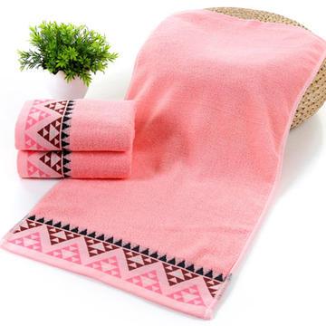 2018新款纯棉三角毛巾  34*76±2cm 粉色