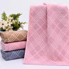 2018新款32股菱形毛巾  34*75 粉色