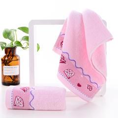 2018新款32股钻石毛巾 浴巾 粉色/毛巾 34*75±2cm