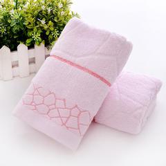 毛巾纯棉洗脸家用成人柔软吸水批发 水立方粉色34*75
