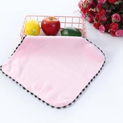 2018新款精梳棉方巾 粉色30*30cm