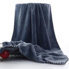 2018新款精梳棉浴巾 灰色70*140cm