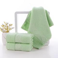 2018新款棱形毛巾 绿色33*74cm