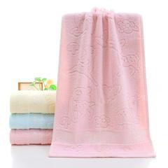 2018新款小鹿毛巾 粉色33*74cm