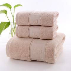 2018新款纯棉字母套巾毛巾33.74±2cm100克浴巾70*140±2cm400克正反极限股5色 灰色