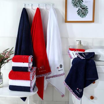2018新款小刺猬款-方巾,毛巾,浴巾 浴巾-红  70*140