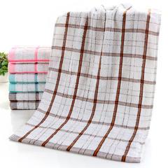 2018新款方格毛巾 33*73 棕(20-299条)