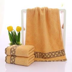 2018新款菱形礼品套巾 黄色-毛巾34*75(±2cm)