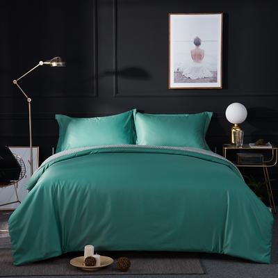 2018新款贡缎棉纯色四件套 1.8m(6英尺)床 绿色