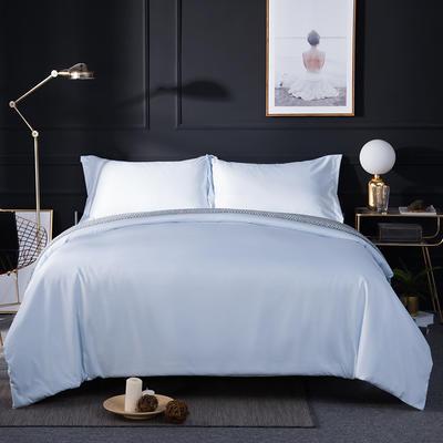 2018新款贡缎棉纯色四件套 1.8m(6英尺)床 天蓝