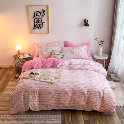 2018新款棉加绒四件套 1.2m(4英尺)床 旋律