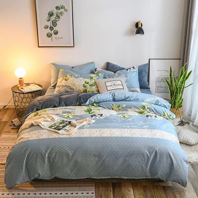 2018新款棉加绒四件套 1.2m(4英尺)床 叶叶私语