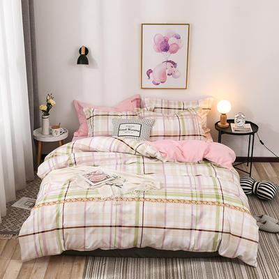 2018新款针织棉四件套 标准1.5m-1.8m床 幻想 绿