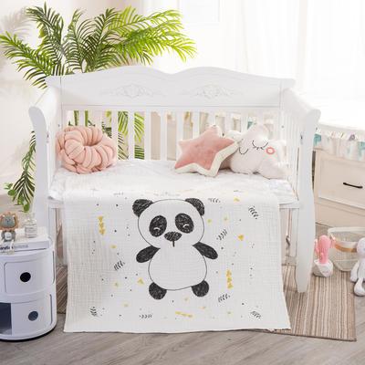 2019新款六層高密獨版定位童被 110*110 熊貓