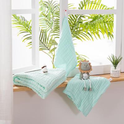 2019新款素色三件套 方巾:30*30 綠色