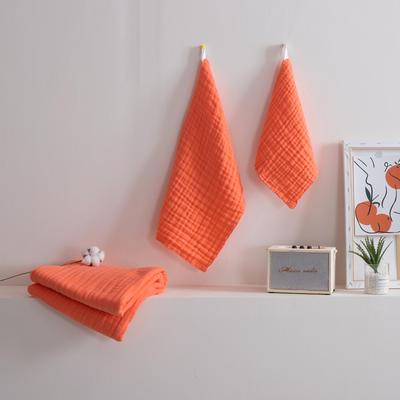 2019新款素色三件套 方巾:30*30 橘紅