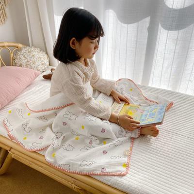 2020年春夏新品棉花糖饰边浴巾(110*120) baby兔