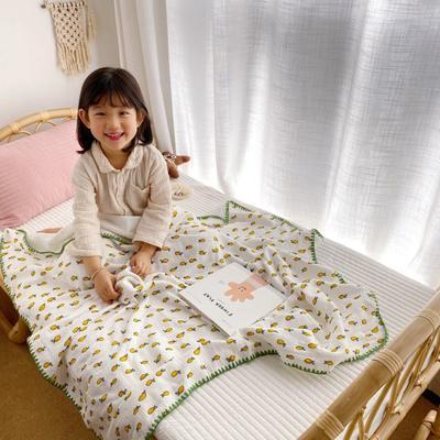 2020年春夏新品棉花糖饰边浴巾(110*120) 菠萝