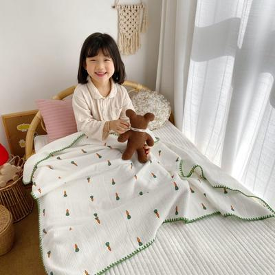 2020年春夏新品棉花糖饰边浴巾(110*120) 胡萝卜