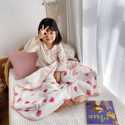 2020年春夏新品棉花糖飾邊浴巾(110*120) 水蜜桃