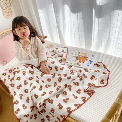 2020年春夏新品棉花糖饰边浴巾(110*120) 小棕熊