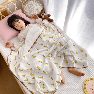 2020年春夏新品棉花糖飾邊浴巾(110*120) 鴨鴨