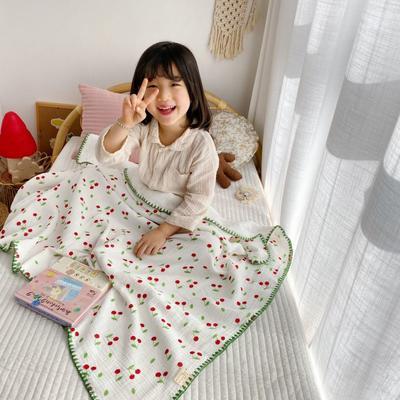 2020年春夏新品棉花糖饰边浴巾(110*110) 樱桃