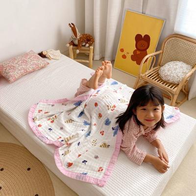 2020新款八层有机竹棉盖毯 115*115cm 春季