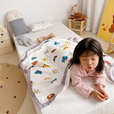 2020新款八層有機竹棉蓋毯 115*115cm 動物