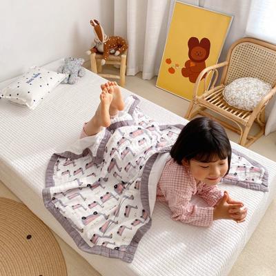 2020新款八層有機竹棉蓋毯 115*115cm 灰天鵝