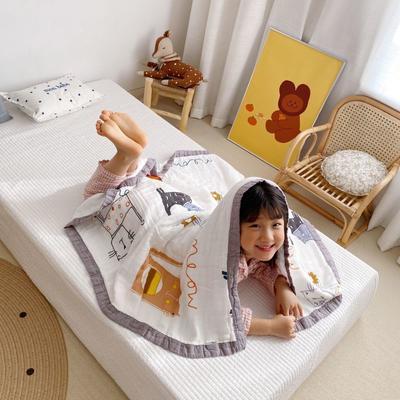 2020新款八層有機竹棉蓋毯 115*115cm 貓咪