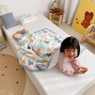 2020新款八層有機竹棉蓋毯 115*115cm 南瓜
