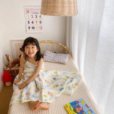 2020新款六层包边童被浴巾 110*110cm 菠萝蜜