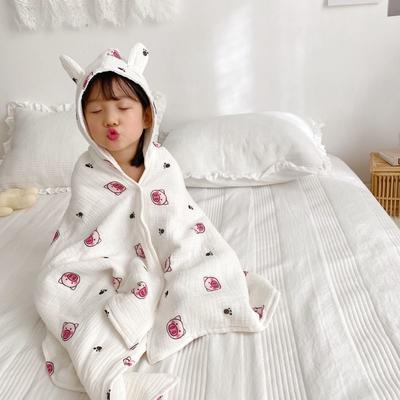 2020年春夏新品兒童披肩浴袍(70*140) 美美豬四層