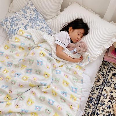 2020新款多功能肌感系列豆豆毯 70*120cm豆豆毯 可爱熊