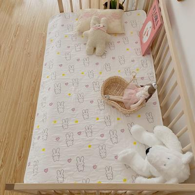 2020新款婴童隔尿垫防月经垫 70*90cm 桃心兔