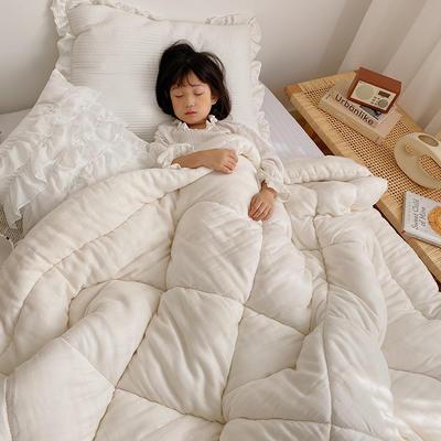 2020新款冬被A类双层纱棉花被子被芯 120x150cm3.8斤 原白