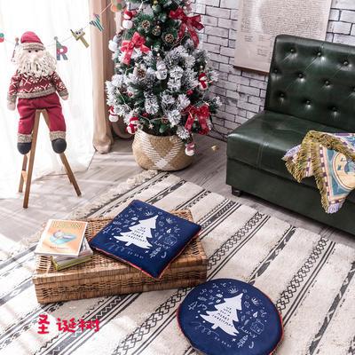 2018新款圣诞坐垫 40cm/一只不含包装 圣诞树-圆形