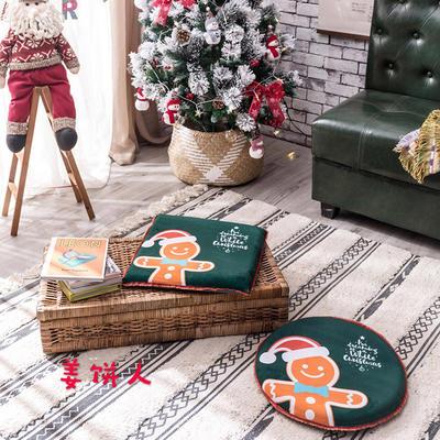 2018新款圣诞坐垫 40cm/一只不含包装 姜饼人-圆形